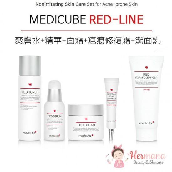 Medicube Red 舒緩抗痘修復5件優惠套裝 by hermana beauty 認證優網店